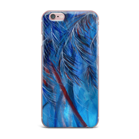 "Rosie Brown ""Red White Tropical"" iPhone Case - KESS InHouse"