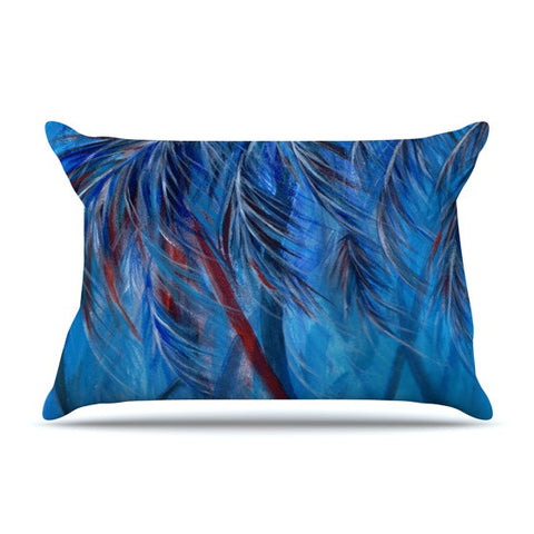"Rosie Brown ""Red White Tropical"" Pillow Sham - KESS InHouse"