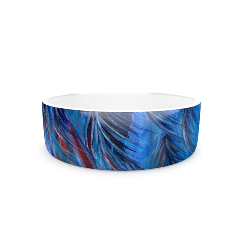 "Rosie Brown ""Red White Tropical"" Pet Bowl - KESS InHouse"