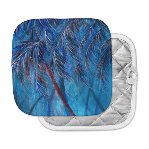"Rosie Brown ""Red White Tropical"" Pot Holder"