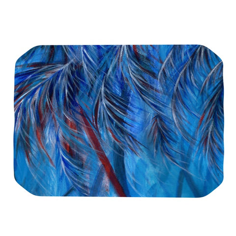 "Rosie Brown ""Red White Tropical"" Place Mat - KESS InHouse"