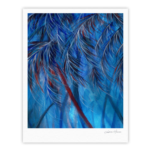 "Rosie Brown ""Red White Tropical"" Fine Art Gallery Print - KESS InHouse"