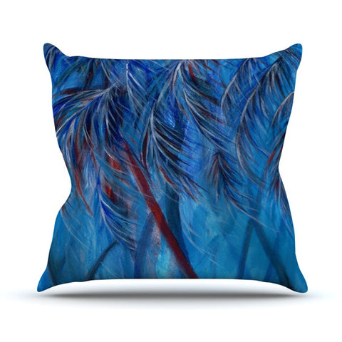 "Rosie Brown ""Red White Tropical"" Outdoor Throw Pillow - KESS InHouse  - 1"