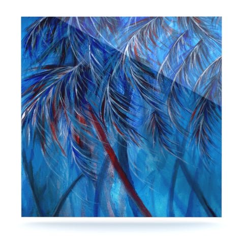 "Rosie Brown ""Red White Tropical"" Luxe Square Panel - KESS InHouse  - 1"