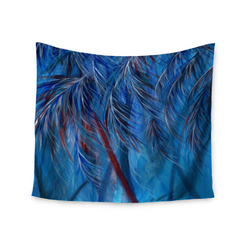 "Rosie Brown ""Red White Tropical"" Wall Tapestry - KESS InHouse  - 1"