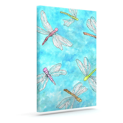 "Rosie Brown ""Dragonfly"" Outdoor Canvas Wall Art - KESS InHouse  - 1"