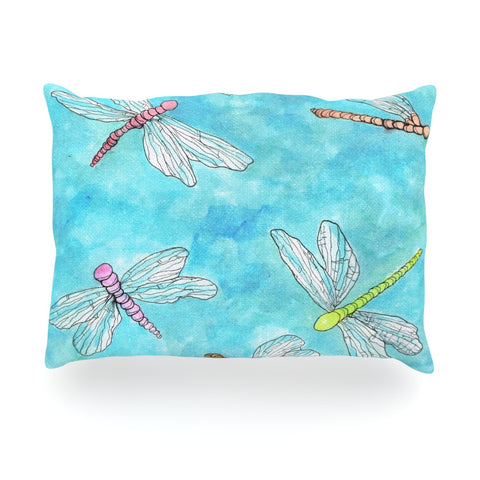 "Rosie Brown ""Dragonfly"" Oblong Pillow - KESS InHouse"