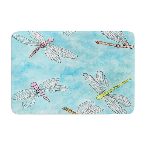 "Rosie Brown ""Dragonfly"" Memory Foam Bath Mat - KESS InHouse"
