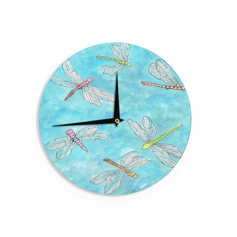 "Rosie Brown ""Dragonfly"" Wall Clock - KESS InHouse"