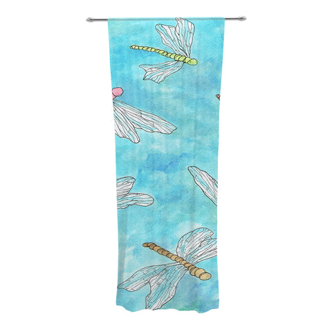 "Rosie Brown ""Dragonfly"" Decorative Sheer Curtain - KESS InHouse"