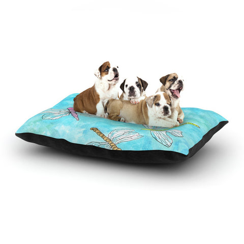 "Rosie Brown ""Dragonfly"" Dog Bed - KESS InHouse  - 1"