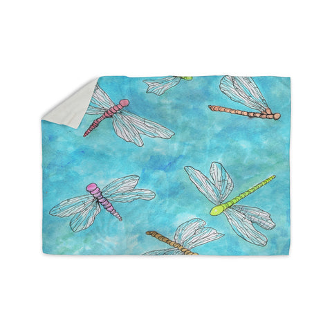 "Rosie Brown ""Dragonfly""  Sherpa Blanket - KESS InHouse  - 1"