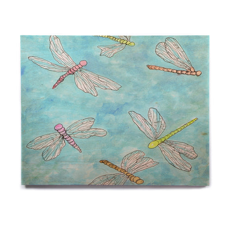 "Rosie Brown ""Dragonfly"" Birchwood Wall Art - KESS InHouse  - 1"