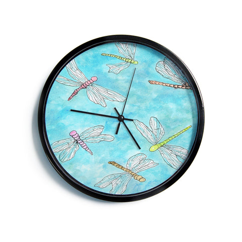 "Rosie Brown ""Dragonfly""  Modern Wall Clock"