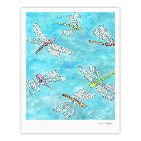 "Rosie Brown ""Dragonfly"" Fine Art Gallery Print - KESS InHouse"