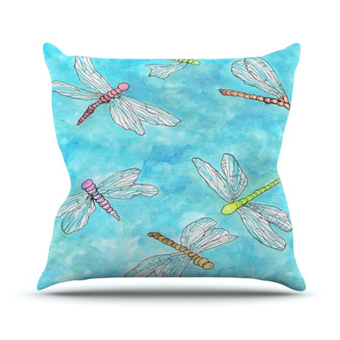 "Rosie Brown ""Dragonfly"" Outdoor Throw Pillow - KESS InHouse  - 1"