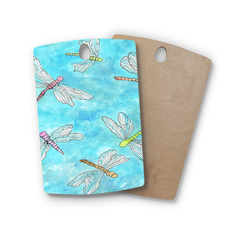 "Rosie Brown ""Dragonfly"" Rectangle Wooden Cutting Board"