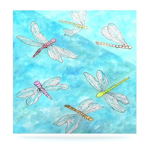 "Rosie Brown ""Dragonfly"" Luxe Square Panel - KESS InHouse  - 1"