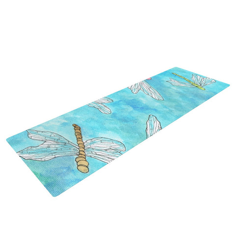 "Rosie Brown ""Dragonfly"" Yoga Mat - KESS InHouse  - 1"