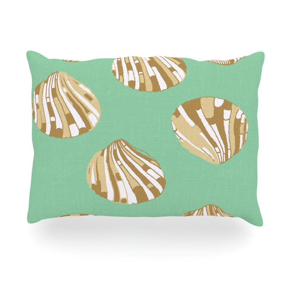 "Rosie Brown ""Scallop Shells"" Oblong Pillow - KESS InHouse"