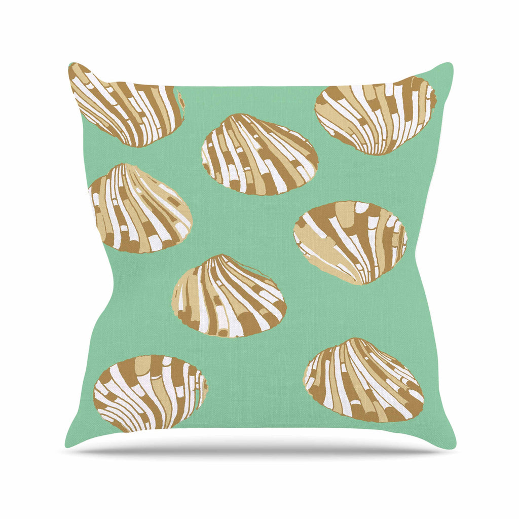 "Rosie Brown ""Scallop Shells"" Outdoor Throw Pillow - KESS InHouse  - 1"