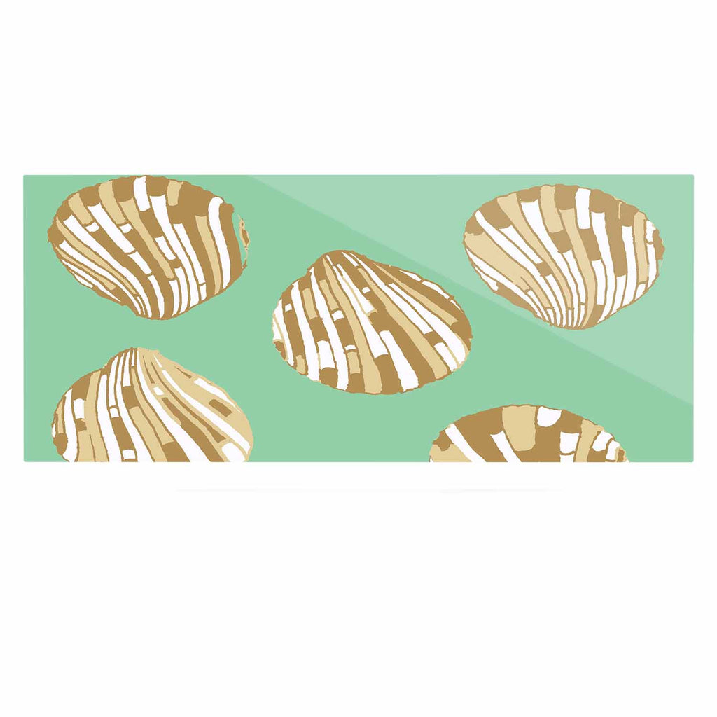 "Rosie Brown ""Scallop Shells"" Luxe Rectangle Panel - KESS InHouse  - 1"