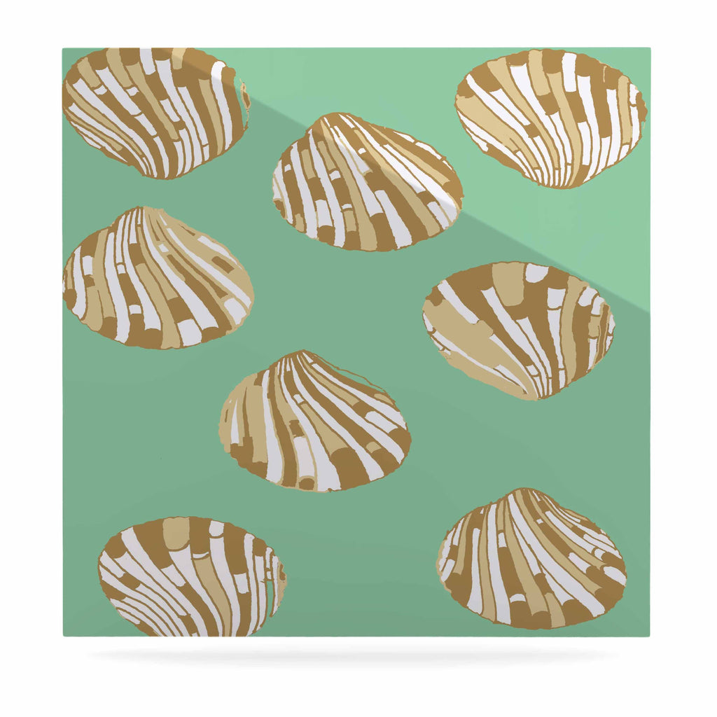 "Rosie Brown ""Scallop Shells"" Luxe Square Panel - KESS InHouse  - 1"