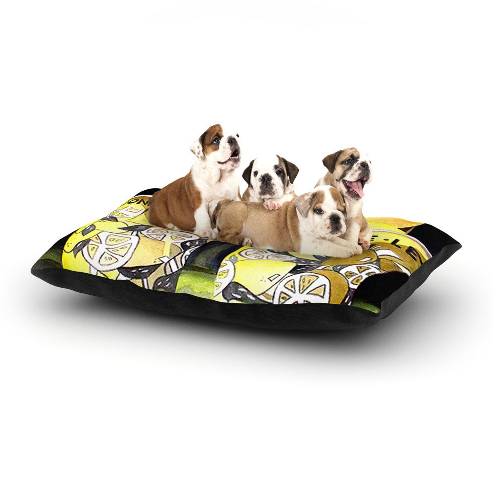 "Rosie Brown ""Lemonade"" Dog Bed - KESS InHouse  - 1"