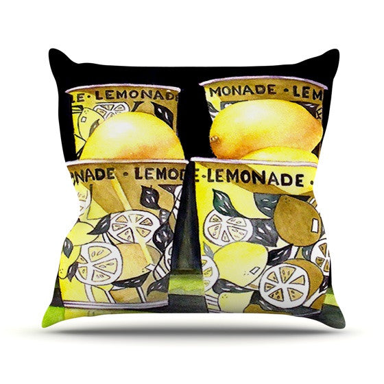 "Rosie Brown ""Lemonade"" Outdoor Throw Pillow - KESS InHouse  - 1"