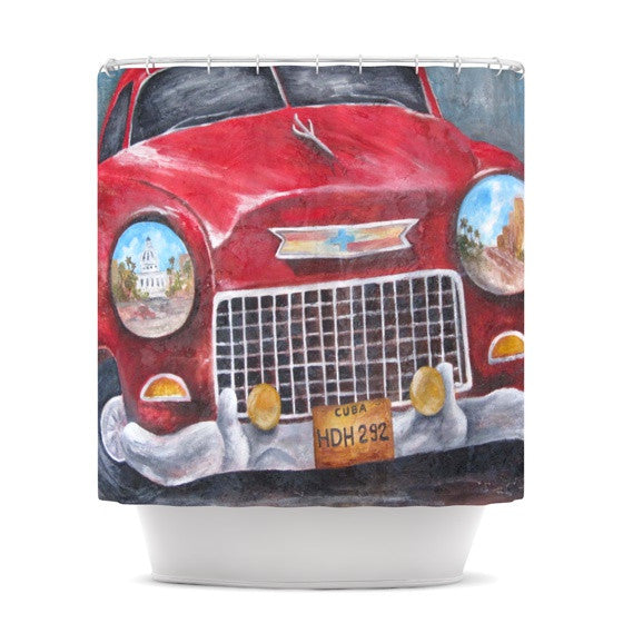 "Rosie Brown ""Vintage in Cuba"" Shower Curtain - KESS InHouse"