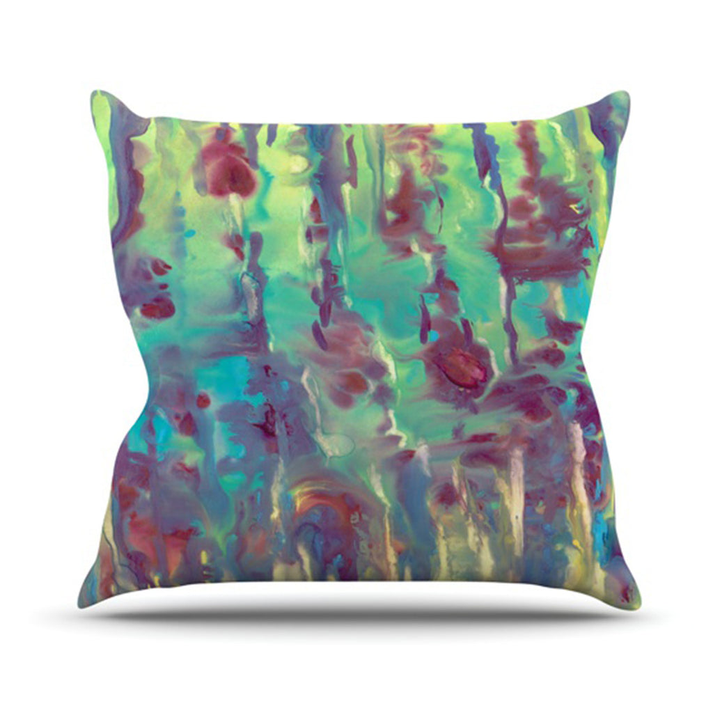 "Rosie Brown ""Splash"" Throw Pillow - KESS InHouse  - 1"