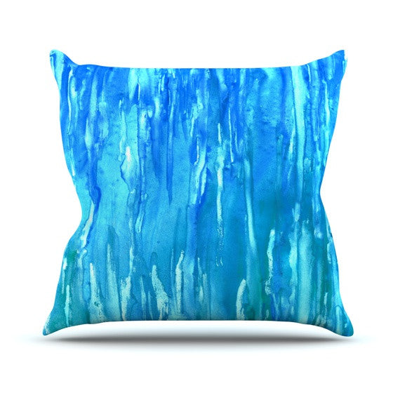"Rosie Brown ""Wet & Wild"" Outdoor Throw Pillow - KESS InHouse  - 1"