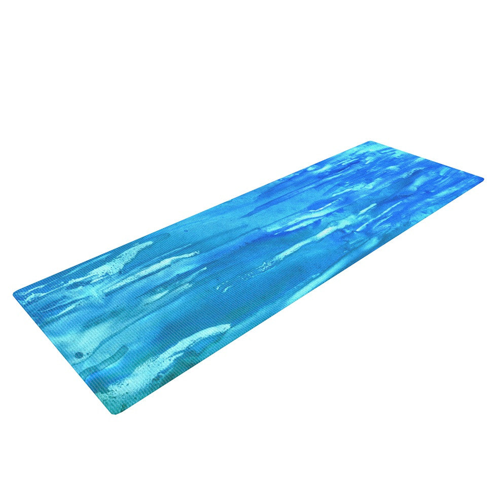 "Rosie Brown ""Wet & Wild"" Yoga Mat - KESS InHouse  - 1"