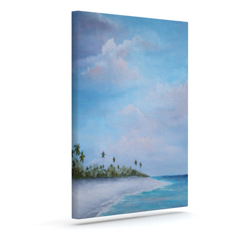 "Rosie Brown ""Carefree Carribean"" Outdoor Canvas Wall Art - KESS InHouse  - 1"