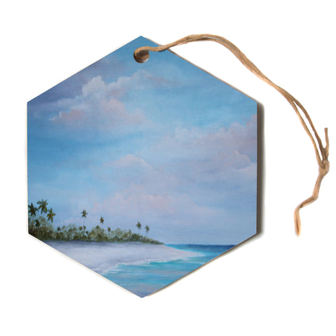 "Rosie Brown ""Carefree Carribean""  Hexagon Holiday Ornament"