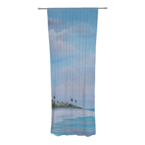 "Rosie Brown ""Carefree Carribean"" Decorative Sheer Curtain - KESS InHouse"