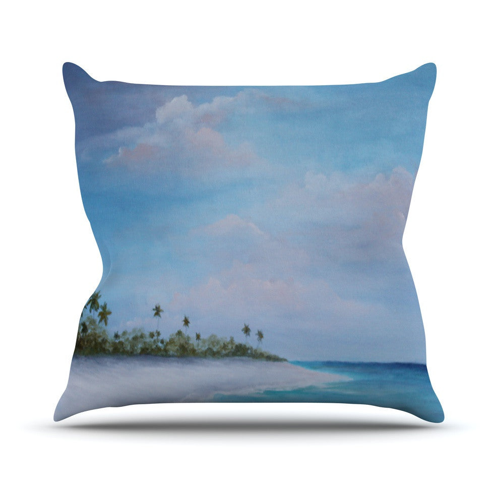 "Rosie Brown ""Carefree Carribean"" Outdoor Throw Pillow - KESS InHouse  - 1"