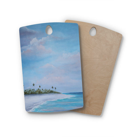 "Rosie Brown ""Carefree Carribean"" Rectangle Wooden Cutting Board"