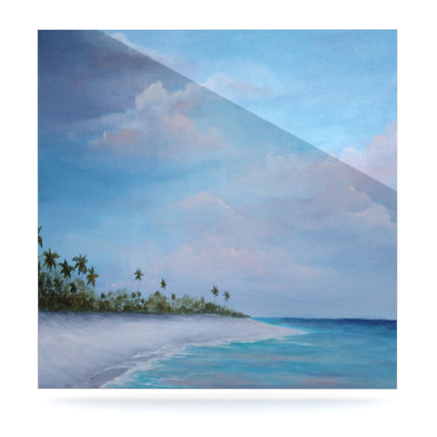 "Rosie Brown ""Carefree Carribean"" Luxe Square Panel - KESS InHouse  - 1"