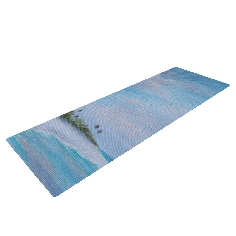 "Rosie Brown ""Carefree Carribean"" Yoga Mat - KESS InHouse  - 1"
