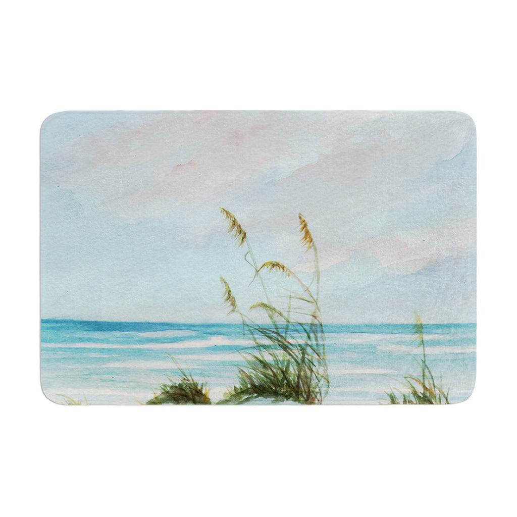 "Rosie Brown ""Sea Oats"" Memory Foam Bath Mat - KESS InHouse"