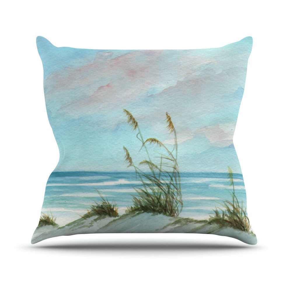 "Rosie Brown ""Sea Oats"" Outdoor Throw Pillow - KESS InHouse  - 1"