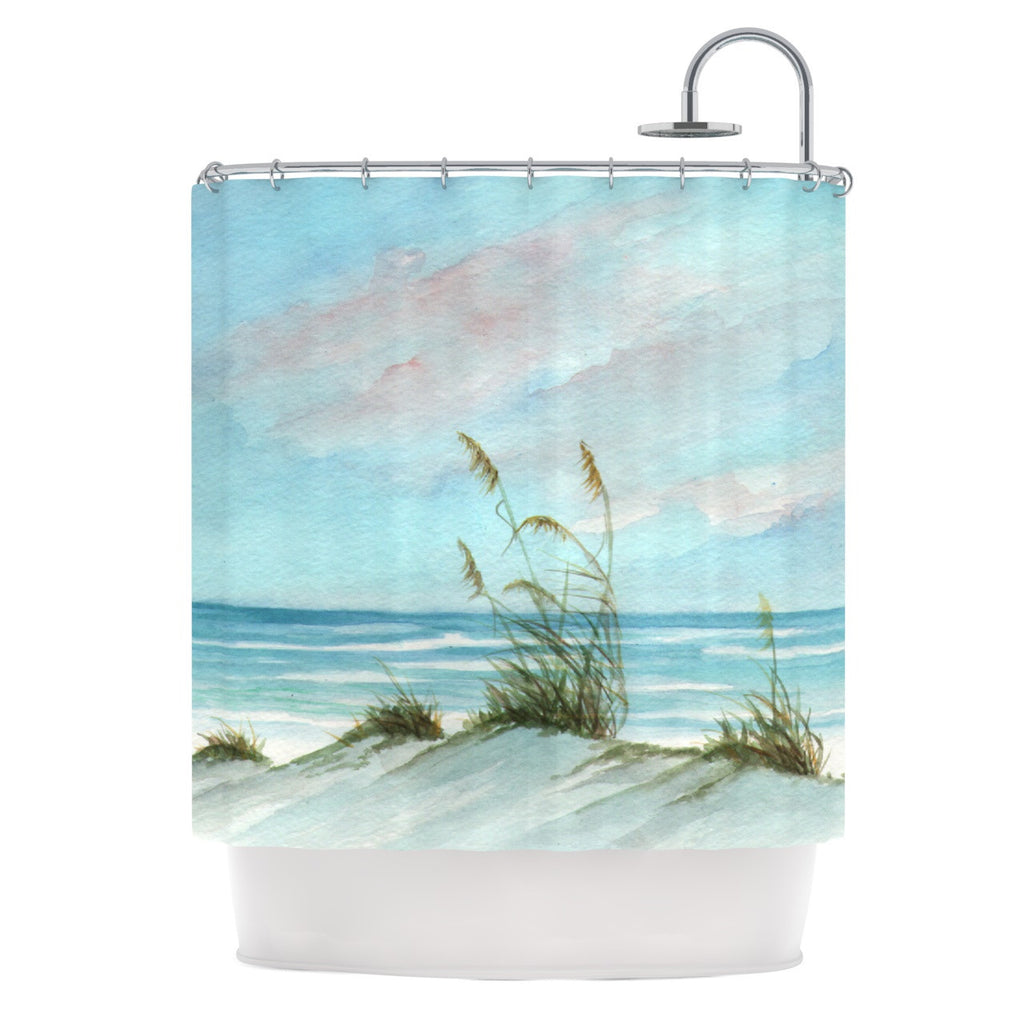 "Rosie Brown ""Sea Oats"" Shower Curtain - KESS InHouse"