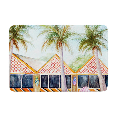 "Rosie Brown ""McT on Sanibel"" Memory Foam Bath Mat - KESS InHouse"
