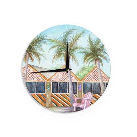 "Rosie Brown ""McT on Sanibel"" Wall Clock - KESS InHouse"