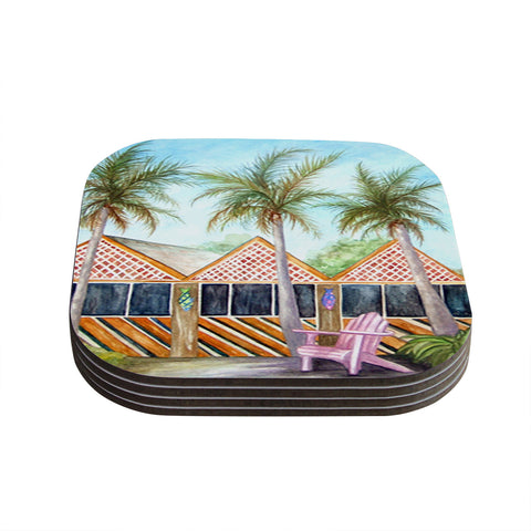 "Rosie Brown ""McT on Sanibel"" Coasters (Set of 4)"