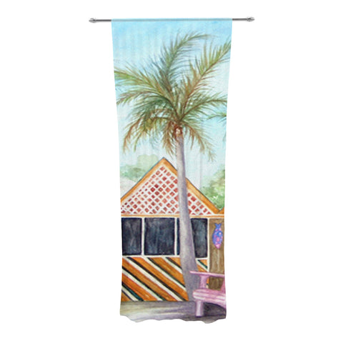 "Rosie Brown ""McT on Sanibel"" Decorative Sheer Curtain - KESS InHouse"