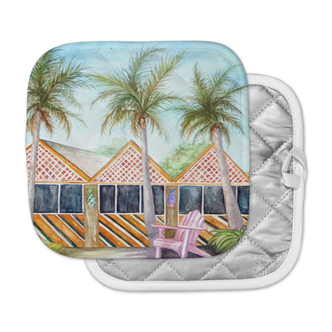 "Rosie Brown ""McT on Sanibel"" Pot Holder"