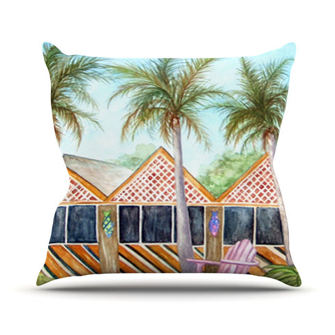 "Rosie Brown ""McT on Sanibel"" Outdoor Throw Pillow - KESS InHouse  - 1"