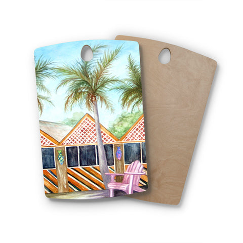 "Rosie Brown ""McT on Sanibel"" Rectangle Wooden Cutting Board"